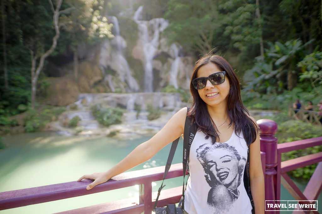 Don't forget to visit Kuang Si Waterfall and Rescued Bear Centre near Luang Prabang, Laos