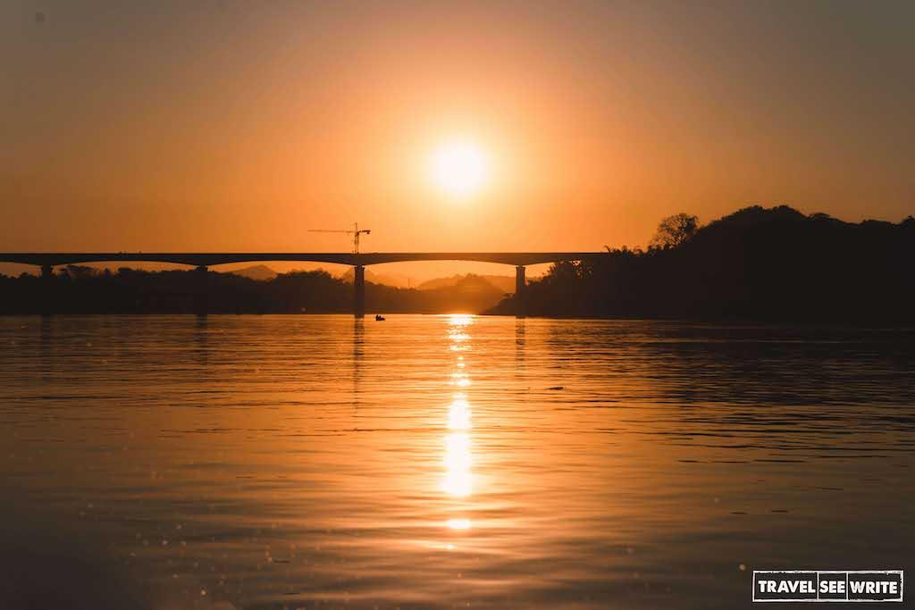 Sunset at Mekong River, Laos