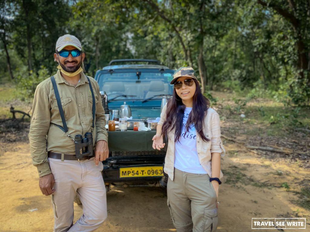 With my Wildopedia naturalist - Mohan Chandra Joshi at Bandhavgarh National Parks