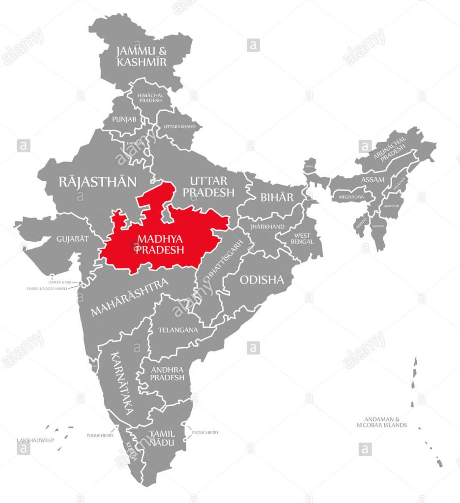 Map of Madhya Pradesh
